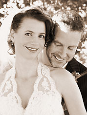 Wedding photo of Jim Benson and Jessica Wolk Benson